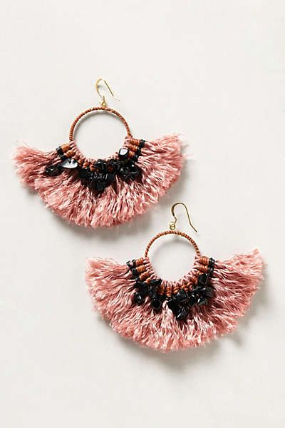Anthro tassel earrings