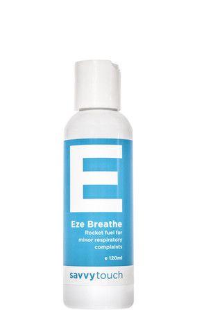Savvy Touch   EZE BREATHE  It is absolute Rocket fuel for minor respiratory complaints. Anyone suffering from Asthma, Sinus, Coughs , colds or blocked noses. Great for athletes needing to open up those airways before exercise