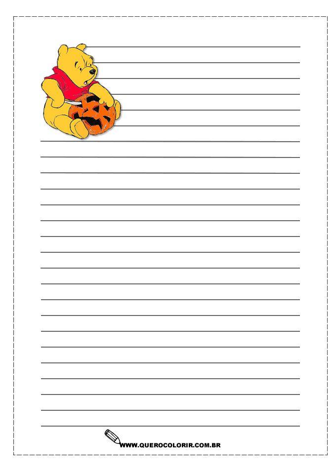 pool halloween mickey halloweenwriting papers stationeryjournalingplannerspreschoolpoolspaperprintable - Printable Halloween Writing Paper