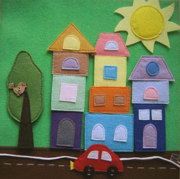Развивающая книжка из фетра. Quiet book, felt baby book, toddler quietbook Busy book, handmade book for ki Cloth book, First baby book. Travel baby book. City, town. Montessori toys.  #VredinaKaredina