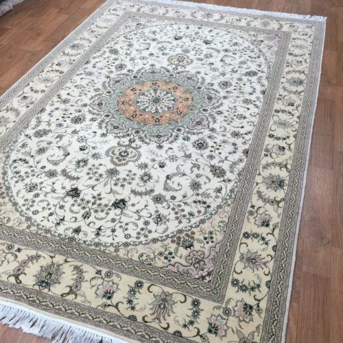 Hand Knotted Carpet Persian Wool Silk Rugs(6'X9') £5,080.00