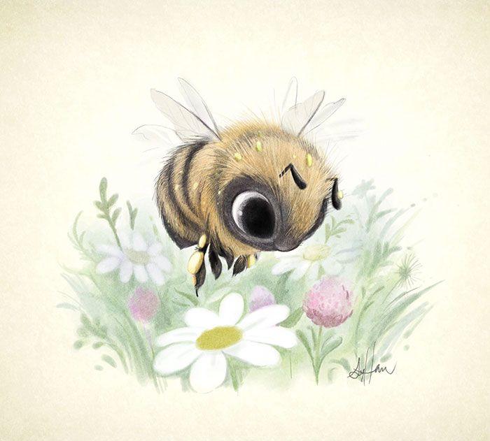 Estas adorables ilustraciones de animales creadas por Sydney Hanson te harán sonreír