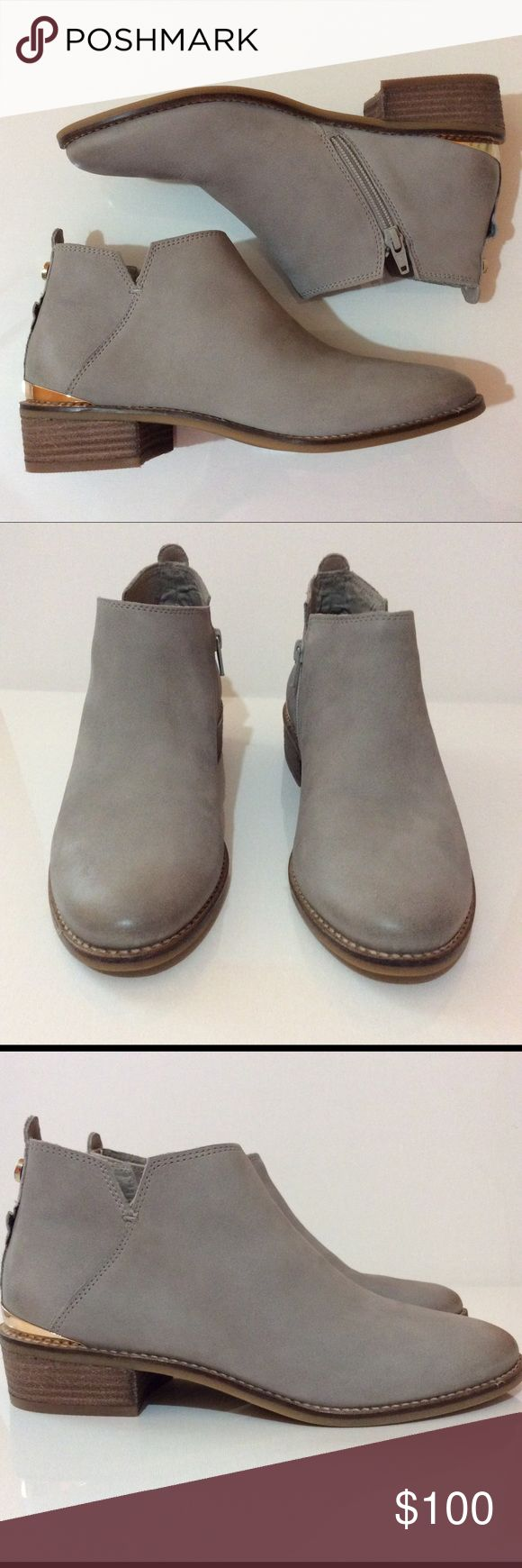 """STEVE MADDEN KESSEY BOOTIE Brand new. 1.25"""" heel height. Leather upper material. Metal rand detail at back of heel counter. Steve Madden Shoes Ankle Boots & Booties"""