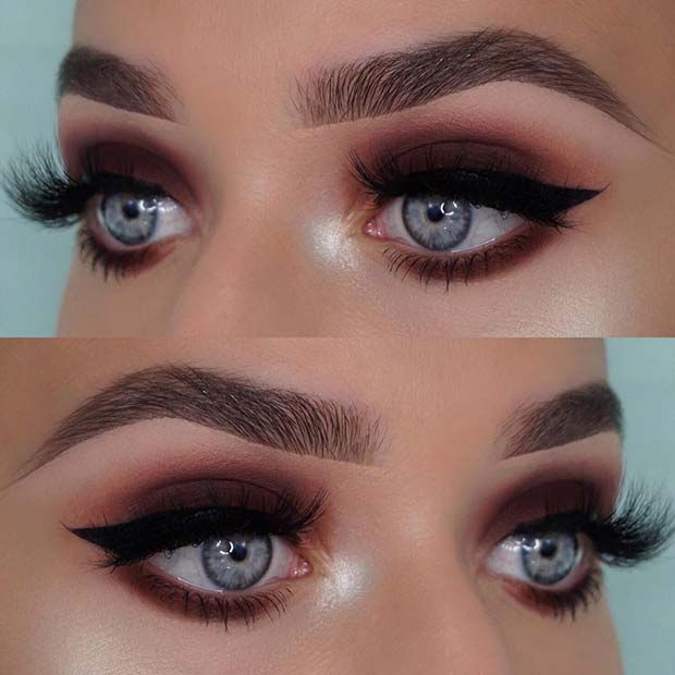 23 Stunning Makeup Ideas For Fall And Winter Smokey Eye For