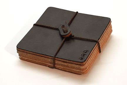 Leather Coasters Made in USA $24