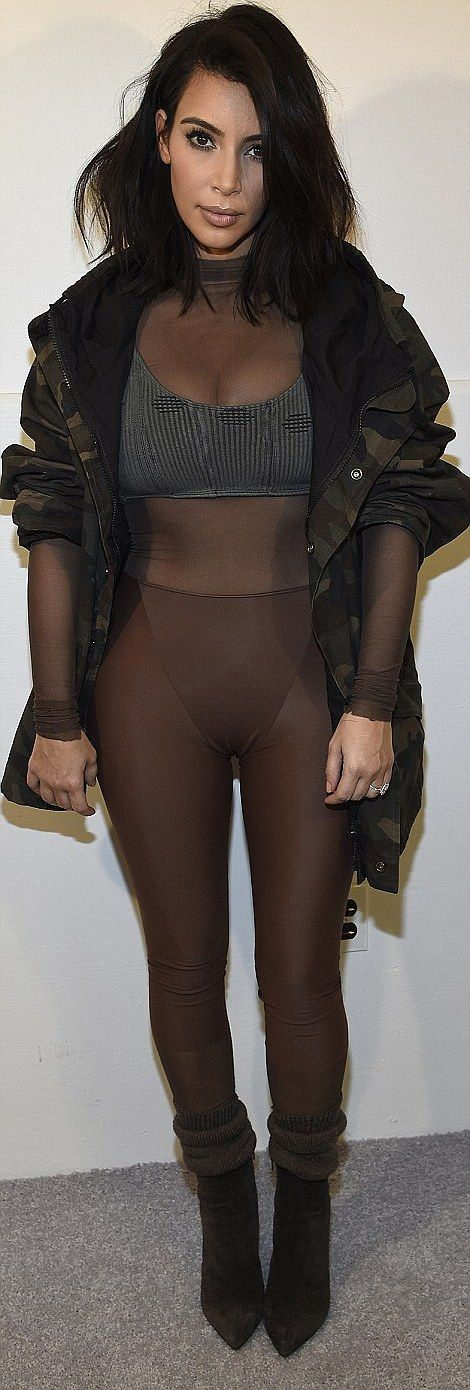The Fall clothing collection's skimpy outfits used simple lines in muted natural colors, b...