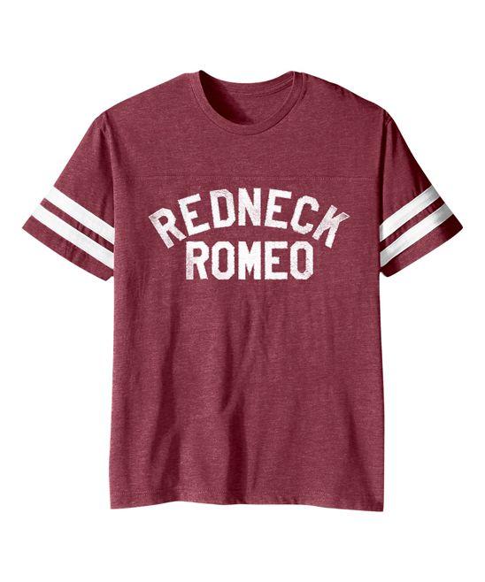Vintage Burgundy 'Redneck Romeo' Football Tee - Toddler & Kids