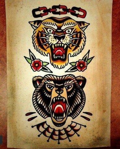 52 Trendy Tattoo Old School Bear Tat