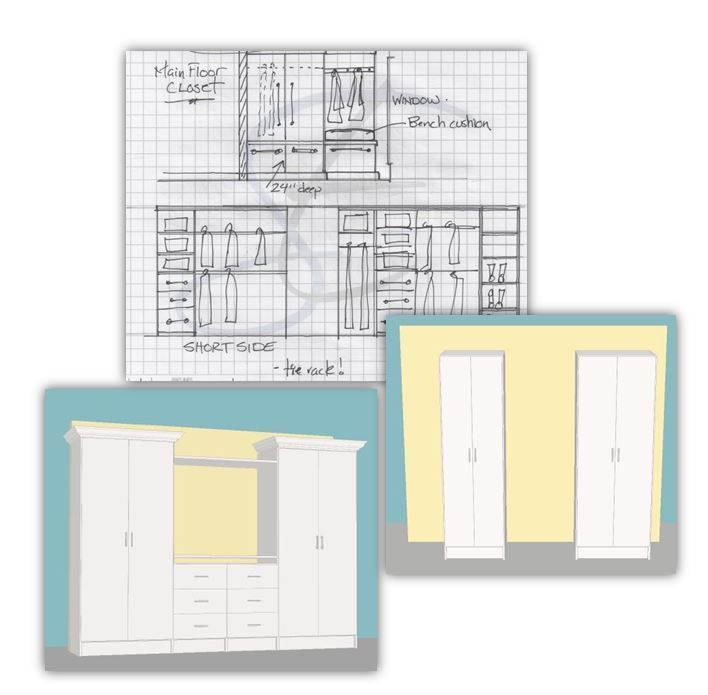 Our Tailored Living Organization Specialists Begin With Simple Conception  Sketches And Then Finalize The Design Using