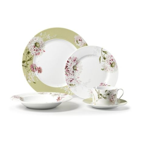 mikasa silk floral pink 5 piece place setting