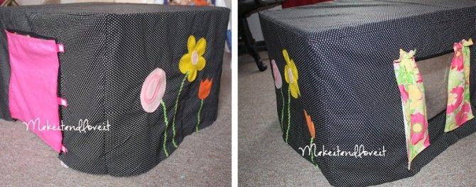 50  Great Homemade Kid Gift Ideas @Amanda Snelson Bingham table cloth cover fort!