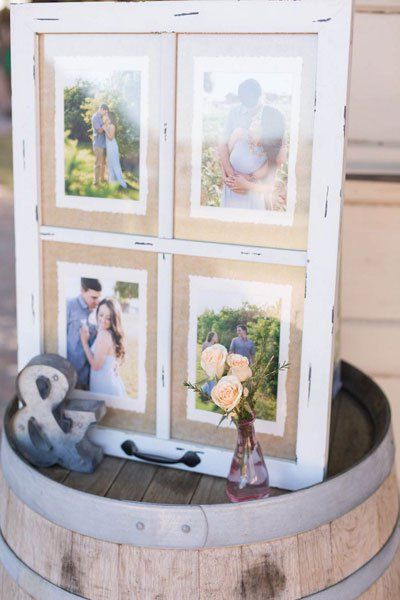 A fun way to introduce your sweetie to your guests who have not yet met him/her is to create a photo montage of the two of you. Make sure to capture this keepsake for your photo album as well.