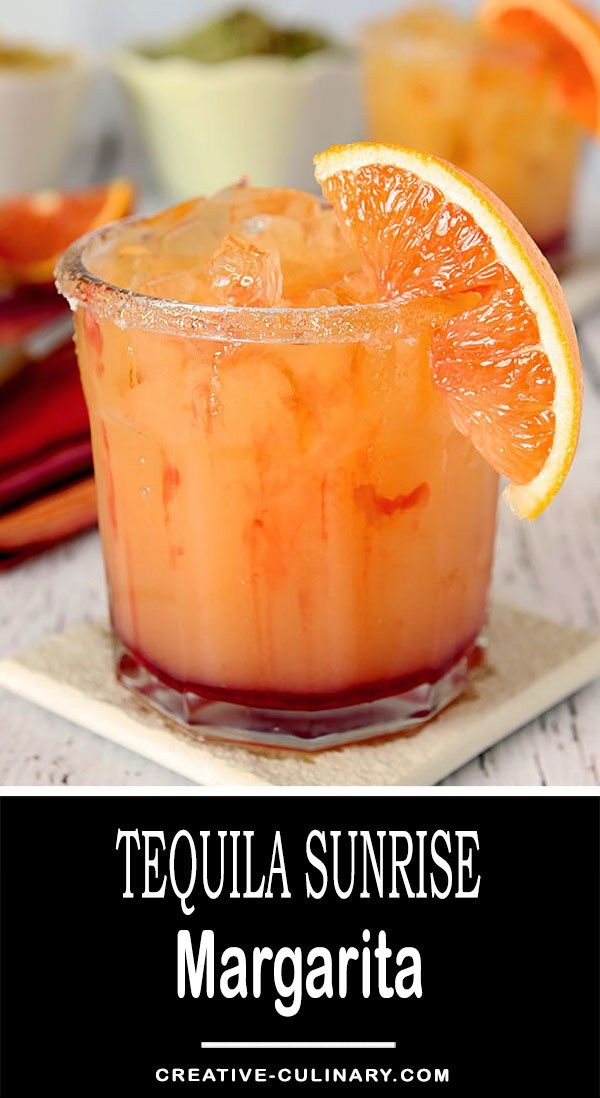 Not just delicious with the flavors of OJ and Grenadine, this Tequila Sunrise Margarita is absolutely beautiful too!