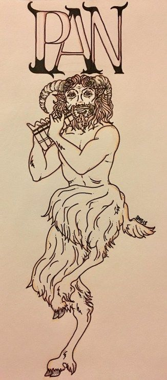 Meet the Gods: Pan http://paganpages.org/content/2018/02/goodgod-14/ A man with the legs and horns of a goat, Pan was the Greek god of the wild and of hunting. #paganpagesorg #witchcraft #wicca #pan #god #pantheon #Greek #Goatfeet #mythology #article #blog #horns #mistakendevil #panpipes