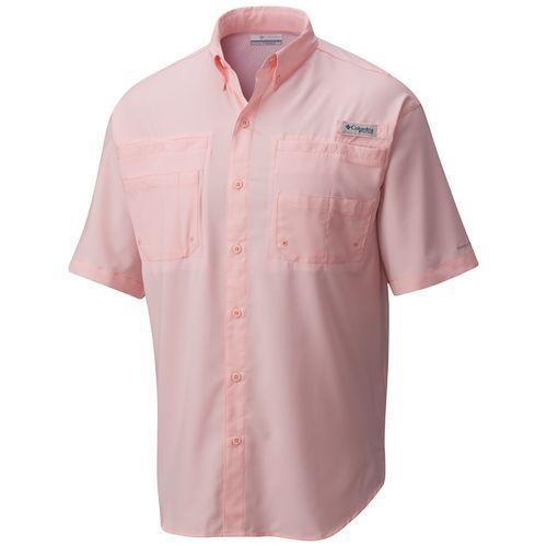 Columbia Sportswear Men's Performance Fishing Gear Tamiami II Big & Tall Short Sleeve Shirt (Pink Bright, Size ) - Men's Outdoor Apparel, Men's Fis...