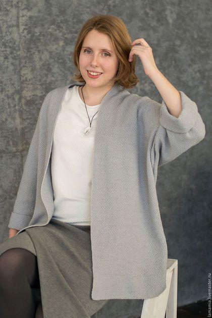 Пиджаки, жакеты ручной работы. Кардиган вязаный серый arria sweater copy. LAMA MIA丨Вязание на заказ. Ярмарка Мастеров.