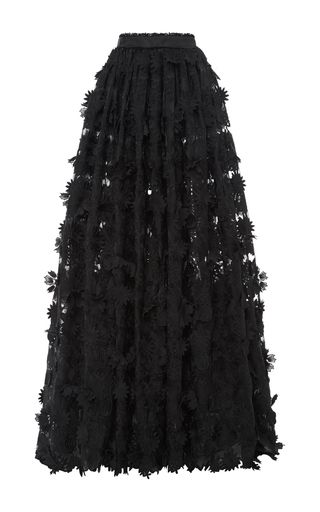 Long Guipure Lace Skirt by COSTARELLOS for Preorder on Moda Operandi