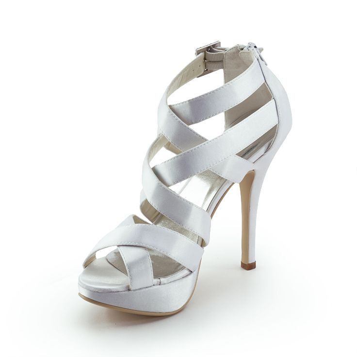 Mystery 5 inch Peep-toe Strap Sandals - Wedding Shoes