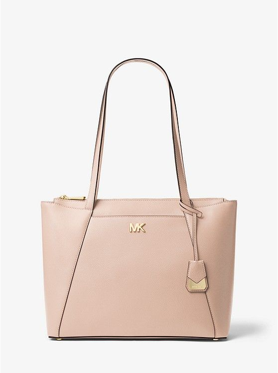56ca4e4e2e55 MICHAEL Michael Kors Soft Pink Maddie Medium Leather Tote