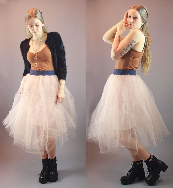 Tulle Skirt Couture Hand Made To Order by BadassVintageRevival