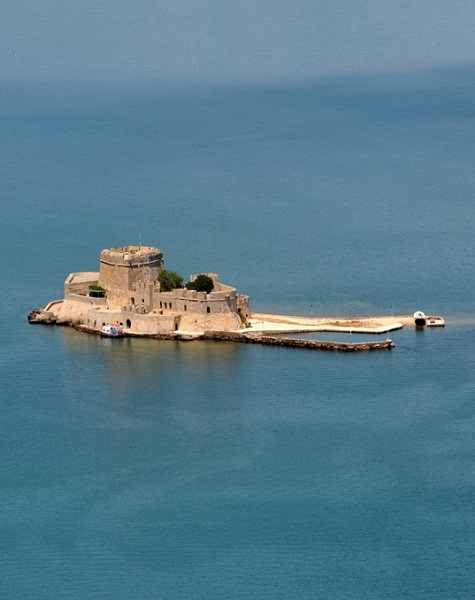 Bourtzi's Castle, Nafplio, Greece http://discover-peloponnese.com/