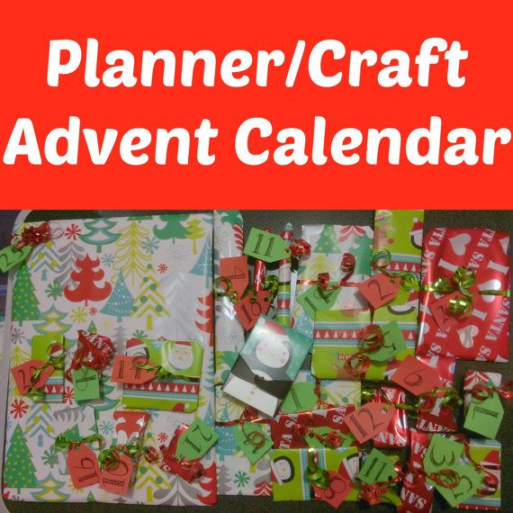 Planner Supplies Advent Calendar/Christmas Gift Set - Open a Gift Every Day!