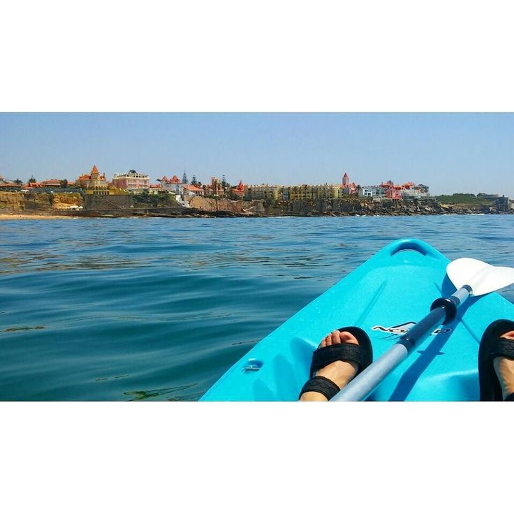 My wonderful Lisboa!! Kayak day at Cascais with all the beaches and chalets. #kayaklovers #kayak #sportsforlife #k1 #outdoorsports #ocean #bluewaters #blueskys #summer #beachspirit #beach #fun