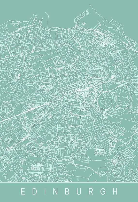 EDINBURGH MAP PRINT Customizable City Map by EncoreDesignStudios