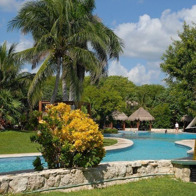 On chill près de la piscine au #mexique : la grosse vie!  #voyagevoyage #destination #cancun #paysage #chill #voyage #aventure #blogvoyage #instatravel