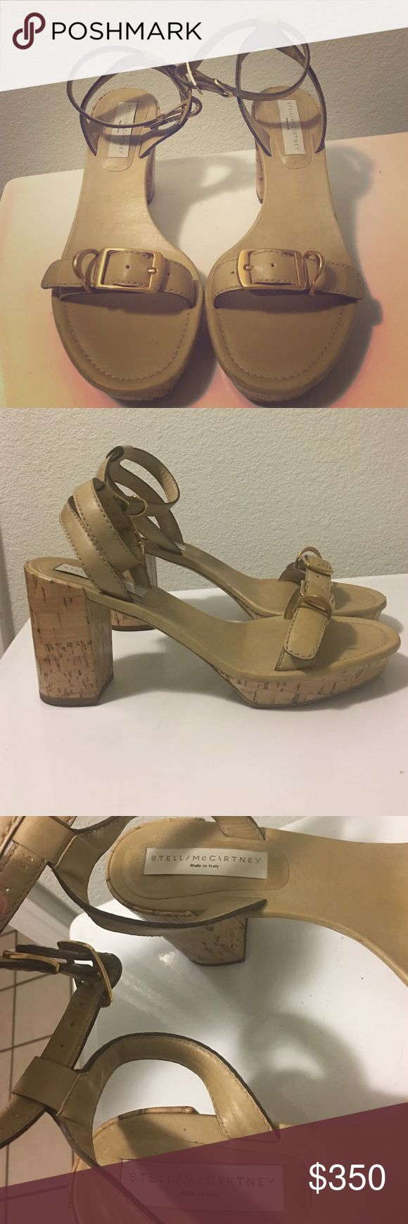 Stella McCartney Cream Heel Sandals Not photogenic but it's really cute in person. It's so chic and edgy at the same time. Stella McCartney Shoes Platforms