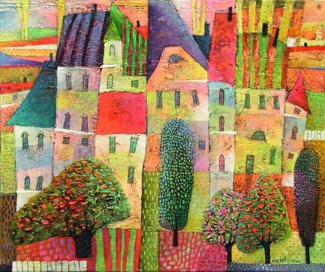 Pinzellades al món: Les il·lustracions d'Olga Kost: pobles i paisatges