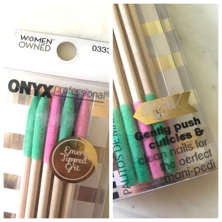 Had to share this clever new invention for any of my friends that may also prefer a #diy #manicure. The #cuticlestick #orangestick is coated with a #emoryboard finish to make filing #hangnails and pesky errant skin a snap.  One of my new #favoritethings.  Thanks to. #womanowned @onyxbrands #onyxbrands $2.88 @walmart #treatyourself #prettynails #pennywise