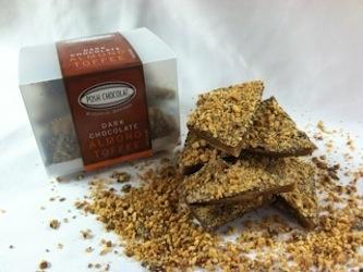 dark chocolate almond toffee