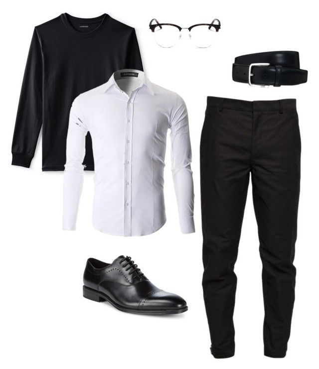"""""""Sin título #17"""" by angelaguirrem on Polyvore featuring Lands' End, Maison Margiela, Tod's, Yves Saint Laurent, Kenneth Cole, men's fashion y menswear"""