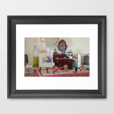 Critter Dress Up Framed Art Print by Alexandria Gold - $33.00