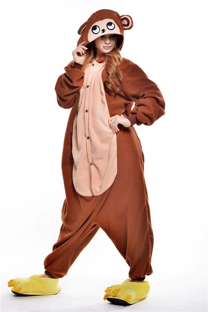 2015 Hiver Café singe Survêtement Pyjamas Doux de Bande Dessinée Costume Kigurumi Onesies Pyjamas Combinaison Pijama mujer pyjamas femme dans Pyjamas de Accessoires et vêtements pour femmes sur AliExpress.com | Alibaba Group