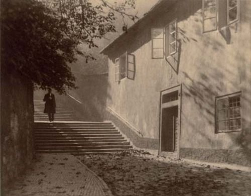 Untitled (Man walking down steps), 1920's Jan Lauschmann. (1901 - 1991)