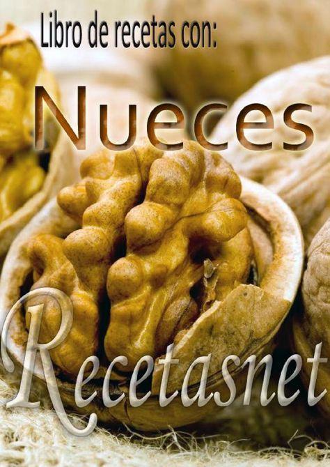 Recetas con nueces  Las nueces son los frutos secos más ricos en aceite que se conocen. El aceite que se extrae tiene un sabor dulce y agradable. Los frutos están en grupos de 1 a 4 sobre un corto pedúnculo. Son globosos, lisos, verdosos, conteniendo una nuez comestible, que por fuera presenta una cáscara dura, redonda, rugosa y de color marrón claro.  En este libro te ofrecemos una serie de recetas con este fabuloso ingrediente.
