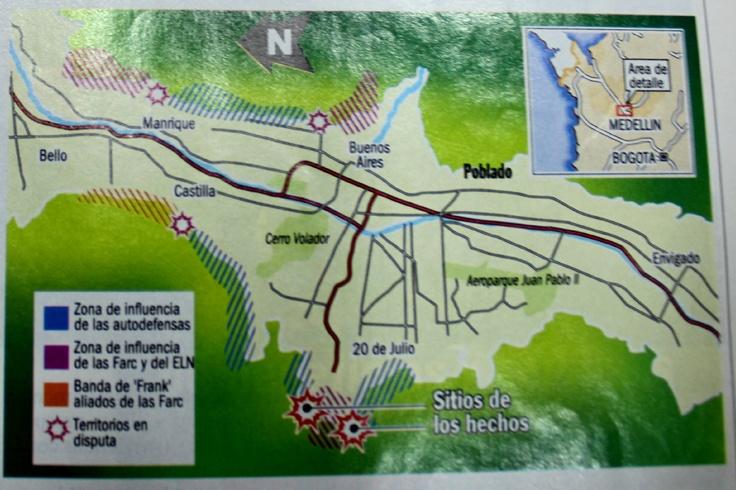 Así ubica geográficamente la Operación Orión la Revista Semana.