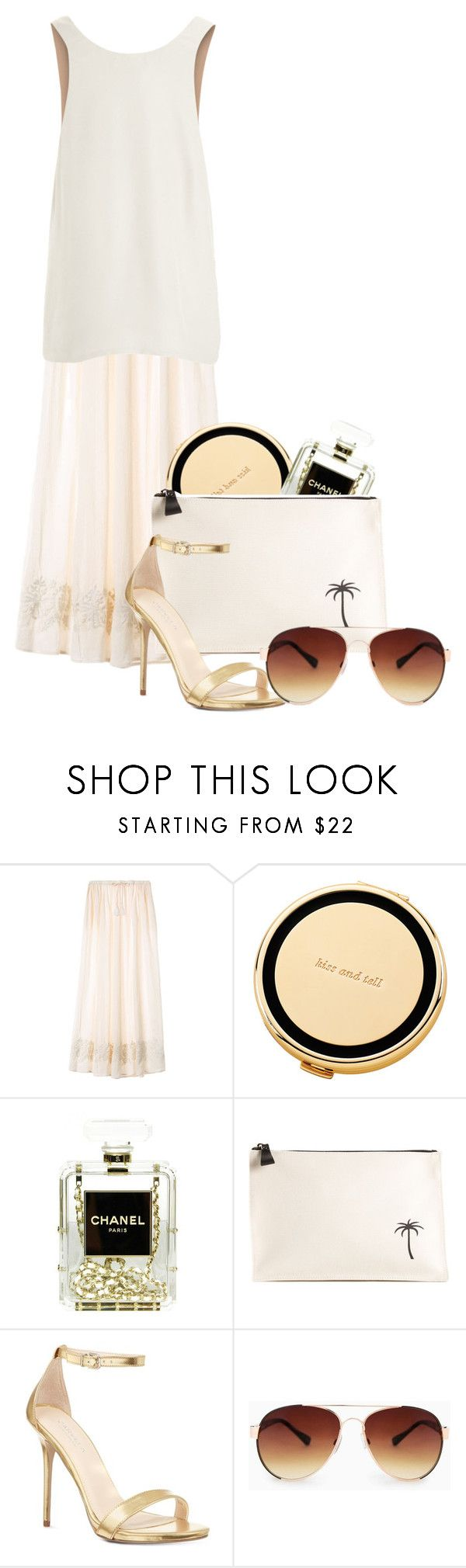 """""""resort wear"""" by cnle ❤ liked on Polyvore featuring Victoria's Secret, Kate Spade, Chanel, Tomas Maier, Carvela, MANGO and Chloé"""
