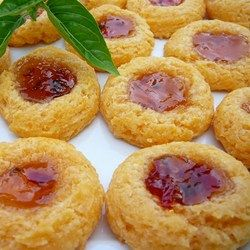 Cheesy Thumbprint Appetizers with Hot Pepper Jelly Allrecipes.com (Cheese Straws With Rice Krispies)