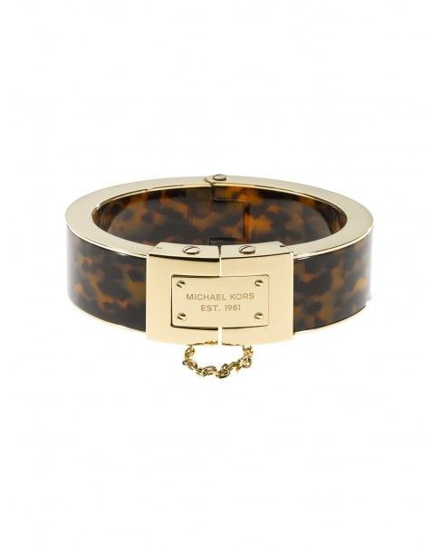 Michael Kors - Bracelete dourado em acetato tartaruga - Joias - Acessórios