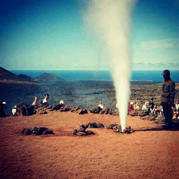 Timanfaya National Park- An active volcano and I am stood on top of it! :O