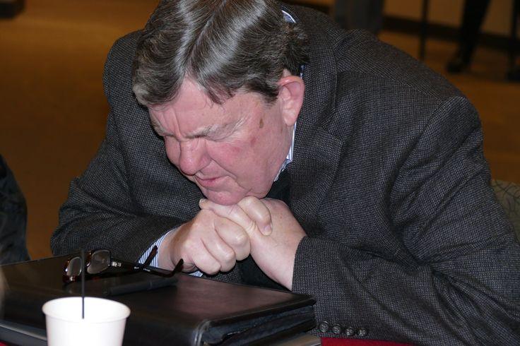 Doug Small praying.