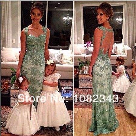 AL-212 real samples custom made sweetheart open back green lace prom dresses 2014
