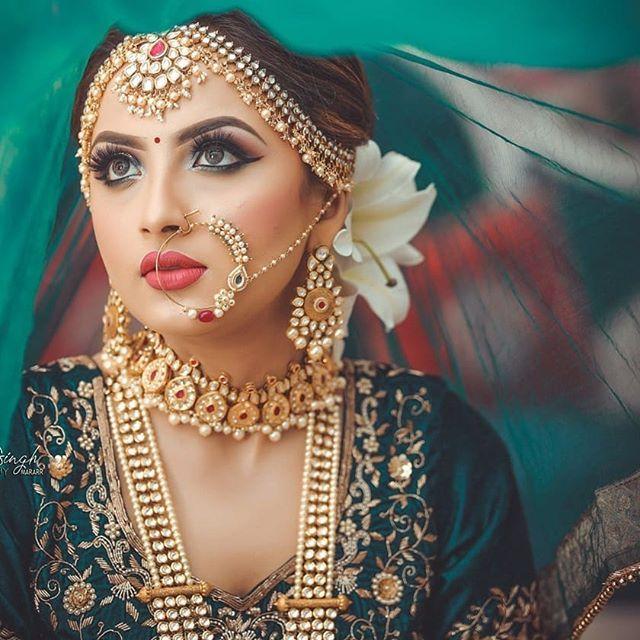 Stunning Indian Bride | Makeup by UV Ghai | (C) Kulwant Singh Mararr |  Bridal Makeup | Bridal… | Indian bride makeup, Bridal photography poses,  Indian bridal makeup