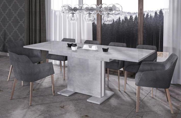 Rozkładane stoły Linea 130 (170)x80 o modnej formie, to polski produkt firmy Endo, wykonany z płyty wiórowej i MDF, wyróżnia się odpornością na uszkodzenia oraz łatwością utrzymania w czystości.