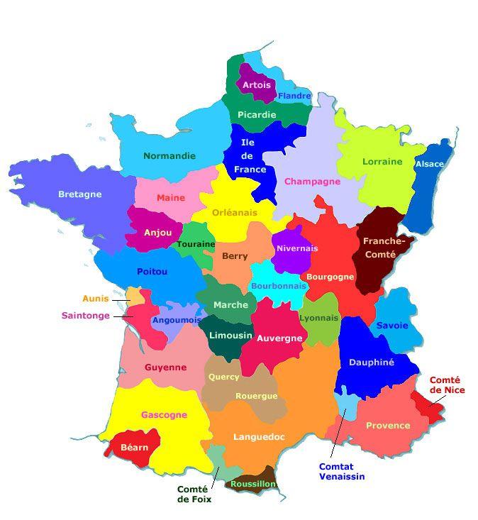 Les anciennes provinces de France