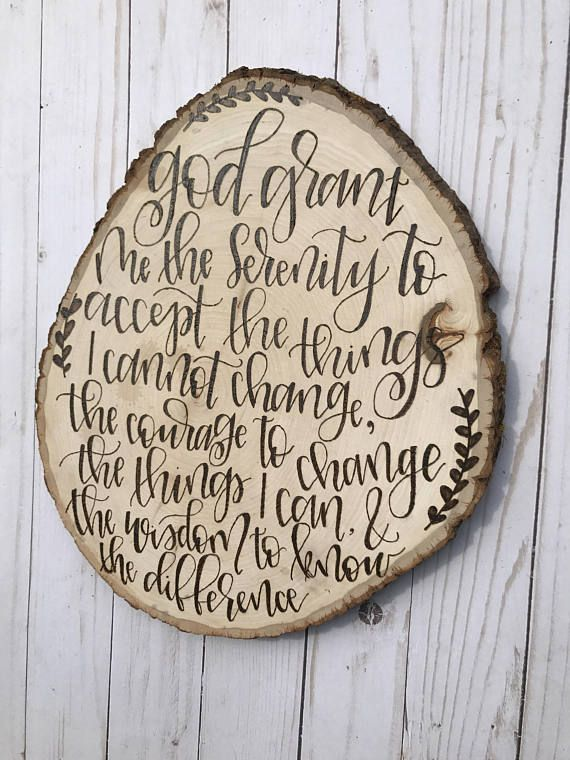 Serenity Prayer Serenity Prayer Sign Serenity Prayer Wall
