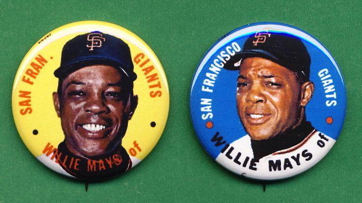 1967 Baseball TEST Disc *PINs* Willie MAYS SF Giants (2) #sfgiants